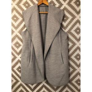 Chico's Gray Long Open Vest!